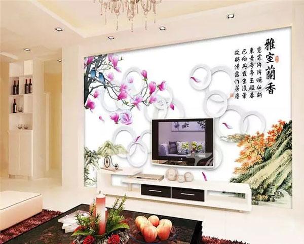最流行电视背景墙 ,装修客厅电视背景墙配什么相框?