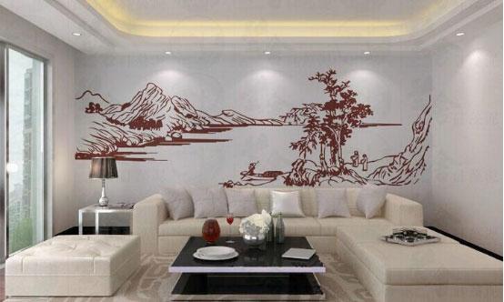 精致的肌理图案,硅藻泥沙发背景墙可以这样做!