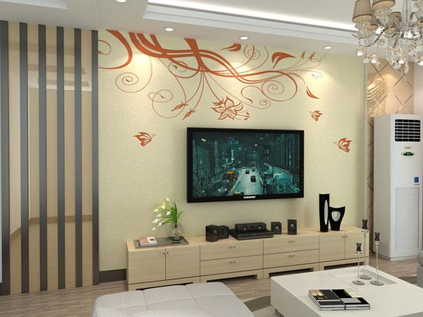 硅藻泥电视墙装修效果图大全2015图片