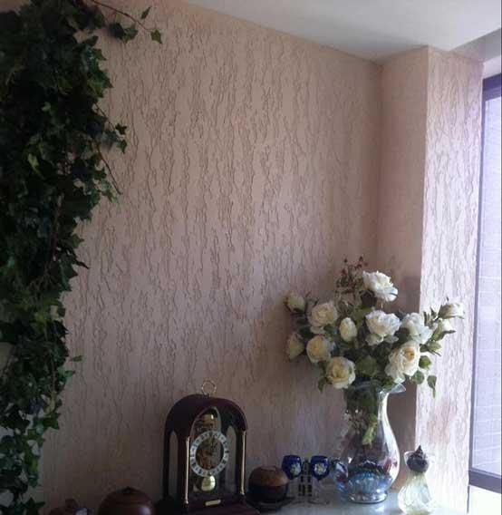 硅藻泥树皮纹理电视墙的做法,真是美呆了!